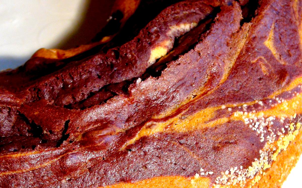 Marmorkuchen in der Nahaufnahme
